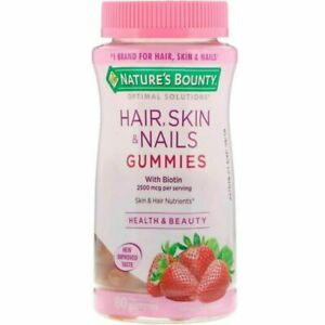 Nature's Bounty Optimal Solutions Hair, Skin and Nails Gummies, 80CT 1/22 ex.