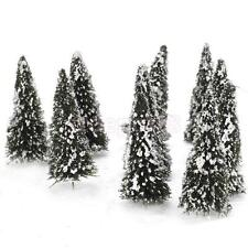 10 Model Cedar pine Trees train railway war game winter snow Scenery TT-N