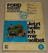 Reparaturanleitung Ford Escort Knochen Mark 1 / I, Baujahre 1968 - 1974