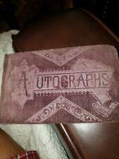 Antique 1880s Autograph Book, Late 1800's