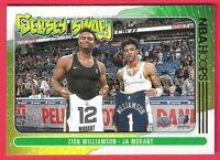 2020-21 Panini NBA Hoops JA Morant & Zion Williamson Jersey swap insert #10