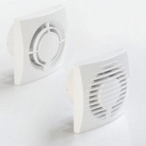 Ø 100 Flach Ventilator Einbautiefe nur 50 mm Badlüfter Timer Feuchtesensor Slim