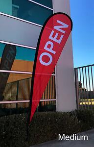 3.5m Medium Teardrop OPEN Flag Set/ Outdoor Advertising Flag Kit- Ready to Ship!