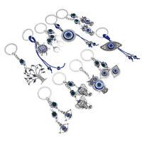 Fashion Keychain Evil Eye Crystals Car Bag Key Ring Unisex Jewelry Accessories