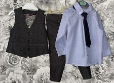 Boys Age 6-12 Months - Monsoon Wedding 3 Piece Suit