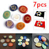 7Pcs Carved Healing Crystal Meditation Palm Stones Engraved Reiki Chakra