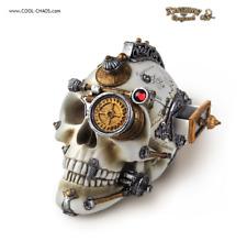 Gentlemen's Steampunk Skull Statue/ Alchemy Gothic of England,Wicked Cool!