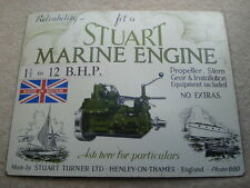 RARE C1930S FIT A STUART MARINE ENGINE ONE&HALF TO 12 B.H.P.ADVERTISING SHOWCARD