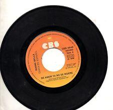 GIANNI BELLA canta in SPAGNOLO disco 45 giri SPAIN De amor ya no se muere 1976