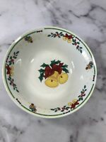 "Housewares International 9"" Wide Christmas Bell Holly Dish Serving Bowl Vintage"