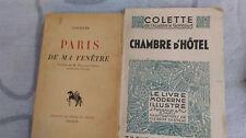 COLETTE PARIS DE MA FENETRE CHAMBRE D'HOTEL EDT 1946 / 1944