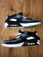 Nike Air Max 90 Ultra 2.0 Flyknit Oreo Black/White NRG 875943-001 Sz 11