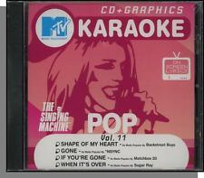 Karaoke CD+G - MTV Pop Hits Vol 11 - New Singing Machine CD! Shape of My Heart