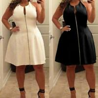 L-5XL Plus Size Women Off Shoulder Solid Cocktail Evening Party Short Mini Dress
