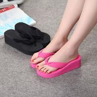 Women's Wedge Platform Thong Flip Flops Sandals Beach Slipper Summer Boot Shoes