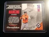 2017 Panini Chronicles Purple Foil #d 47/99 #117 Trey Mancini Rookies Orioles RC