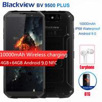 "5.7"" Blackview BV9500 Plus Unlocked Cell Phone 10000mAh Wireless Charging Black"