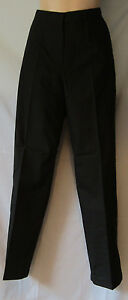 Walking Golf Hiking Trousers Black Sizes 10 - 20 Zips At Ankles & Pockets