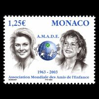 Monaco 2002 - 40th Anniv of the AMADE Organisation Royalty - Sc 2277 MNH