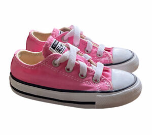 Converse All Star Sneakers Toddler Size 6 Pink Low Top Canvas Chuck Taylor