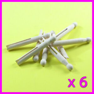6 x Wooden Dolly Pegs Traditional Clothes Line Washing good quality Sydney