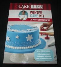 CAKE BOSS WINTER CAKE DECORATING KIT 25 PIECE HOLIDAY FONDANT COOKIE CUTTERS+