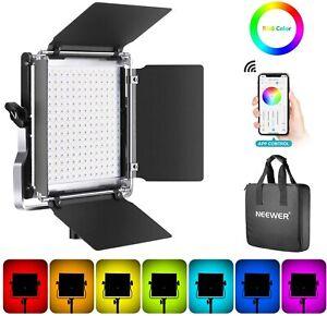 Neewer RGB Led Video Light with APP Phone Control, 28w Adjustable 7 Colors+ Bi-C