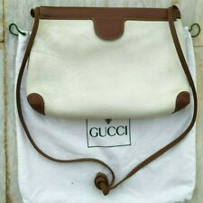 GUCCI AUTHENTIC VINTAGE SHOULDER BAG GG LEATHER