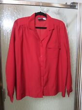 BLVD East 22W/42 100% Polyester Red Button Down Blouse