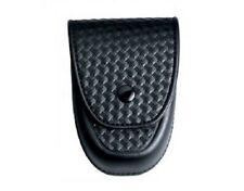 Asp 56147 Basketweave Black Single Chain Or Hinged Handcuff Case