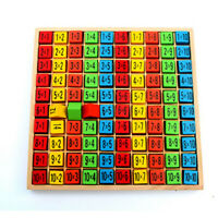 Wooden Educational Toy 99 Multiplication Table Math Toy 10*10 Figure Blocks Kids