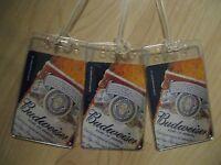 Budweiser Luggage Tags - Repurposed Vintage Bud Beer Playing Card Name Tag Set 3