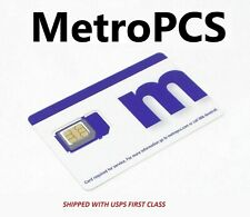 New Metro by T-Mobile MetroPCS Nano Sim Cards Triple Cut Fits All Smartphones