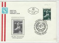 austria 1969 stamps cover ref 19262