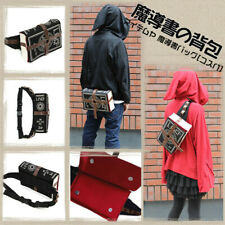 Anime Mihnah Punk Bag Black Magic Book Witch Crossbody Backpack Gothic Shaped