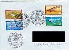 Berlin Brief Sammlerpost 1979 Luftfahrt Mi.Nr.592-95