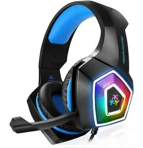 3.5mm Gaming Headset RGB LED Mic Headphones for PC Laptop PS4 Pro Xbox One S X