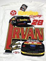 Ernie Irvan Men's XL Racing Tee Shirt Havoline Texaco #28