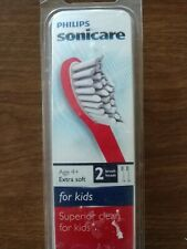 Philips Sonicare HX6032 For Kids Tooth Brush Heads 2 Pack Extra Soft Compact Siz