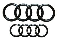 GLOSS BLACK FRONT & REAR BADGE FOR AUDI GRILLE/BOOT A1 A3 A4 A5 A6 S-LINE