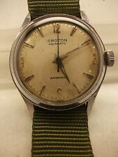 VINTAGE,CROTON,AQUAMATIC,SWISS,17 JEWEL WATCH,EJSE-C2594