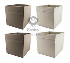 DRÖNA, 2x beige, 2x braun, IKEA, KALLAX, Regal, Fach, Box, 33x38x33cm