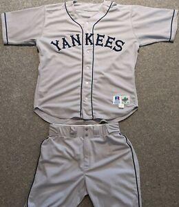 1996 Game Used New York (Black) Yankees Jersey & Pants of Jim Mecir-TBC Negro Lg