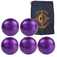 5 x 120g JD Shiney Superior Thud Juggling Balls & Bag - Pro Juggling Balls