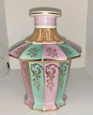Antique Meissen Dresser Perfume Scent Bottle Pink Aqua w/gold embellishment Rare
