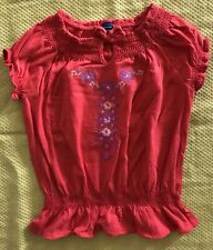 Baby Gap Kids Girls Tank Top Red Shirt Embroidered Size 3T NWT