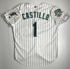 2003 Luis Castillo Florida Marlins Game Issued Home Jersey Size 48