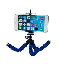 Blue Universal Octopus Adjustable Tripod + Phone Holder for iPhone Samsung Sony