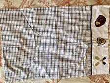 Pottery Barn Kids Baseball checkered Pillow Case NEW
