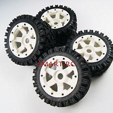 White Front Rear All Terrain Tyre tire Wheel for Rovan King Motor HPI baja 5b SS